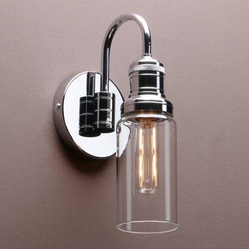 "3.1"" Retro Industrial Bathroom Bar Wall Lamp Sconce Bottle Glass Shade Wall Light"