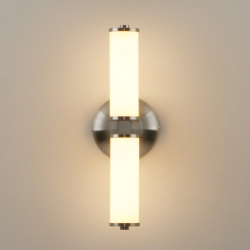 Retro Industrial White Glass Double Arm Wall Lamp Sconce Bedside LED Wall Light