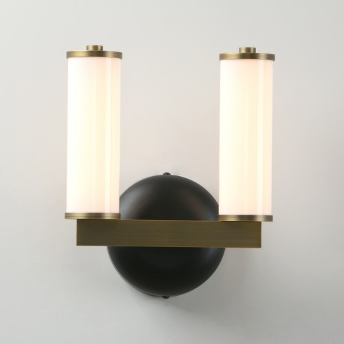 Industrial White Candle Glass Double Arm Wall Lamp Sconce Bedside LED Wall Light